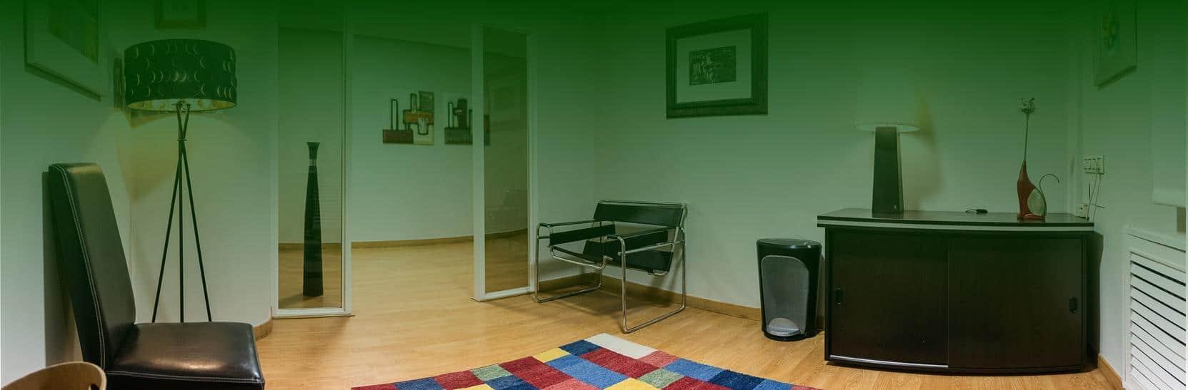 Sala de espera de Clínica Psicología Ana MAría Rodríguez en Oviedo, Asturias